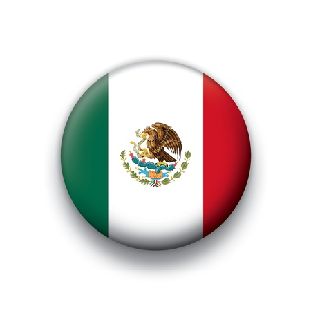 flag button series of all sovereign countries - Mexico