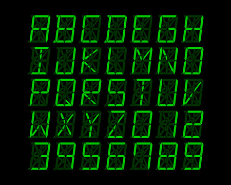 linguistics: Digital alphabet design - vector illustration Illustration
