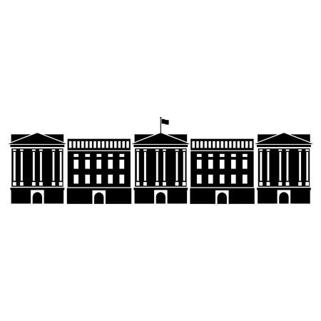 Vector illustration of Buckingham Palace of London
