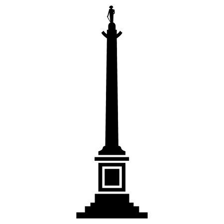 Vector illustration of Nelson Column of London Vector