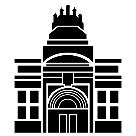 Vector illustration of Victoria and Albert Museum of London Vector