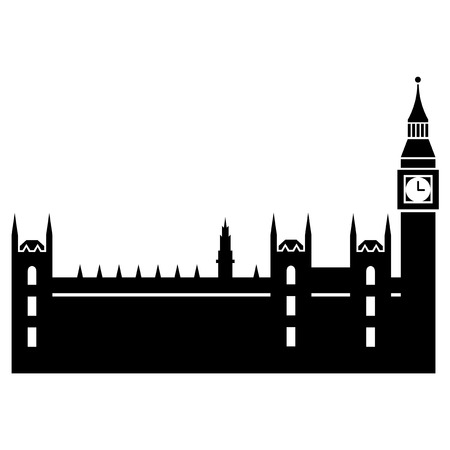 Vector illustration of Parliaments House of London Vector