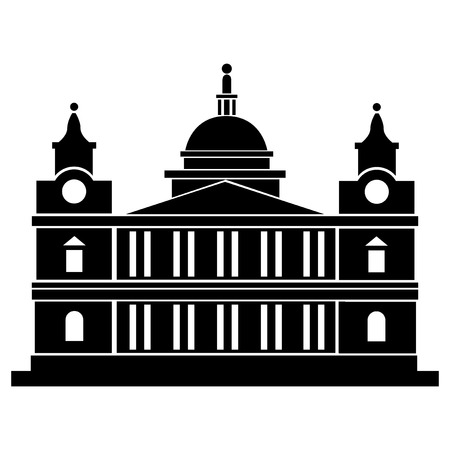 Vector illustration of Saint Paul Cathedral of London