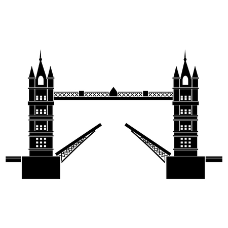 tower bridge: Vector illustration of Tower Bridge of London