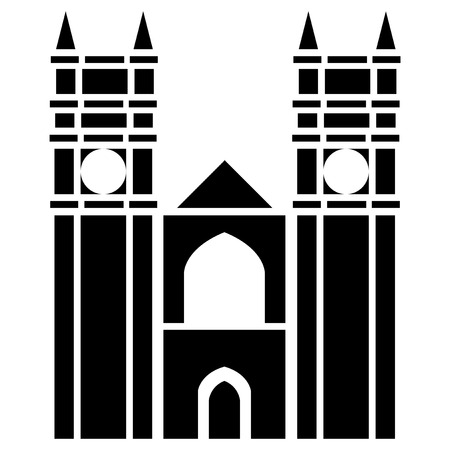 city of westminster: Vector illustration of Westminster Abbey of London