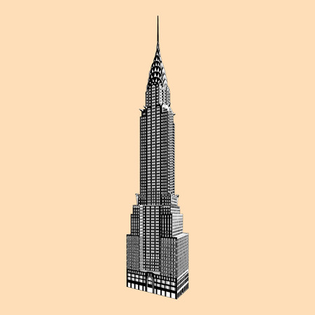 New York beroemde Empire State Building Stock Illustratie