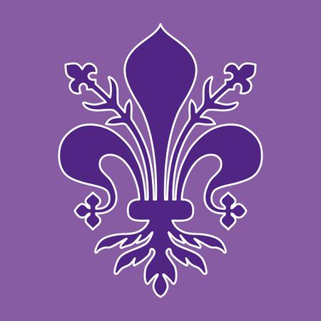 de lis: Escudo de armas de Florencia - Toscana Vectores