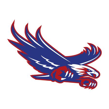 american bald eagle: eagle vector Illustration
