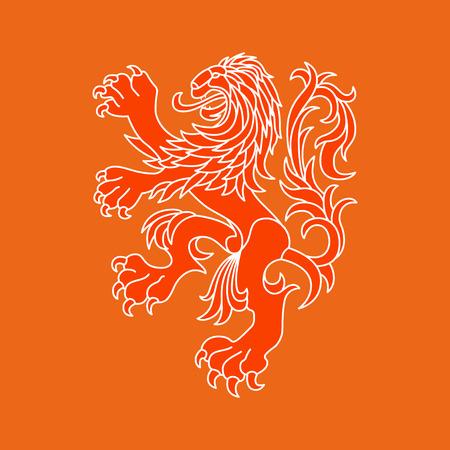 casaco: Le�o do vetor da Holanda Ilustra��o
