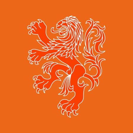 Vector lion of Netherlands