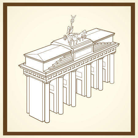 Brandenburg poort postkaart