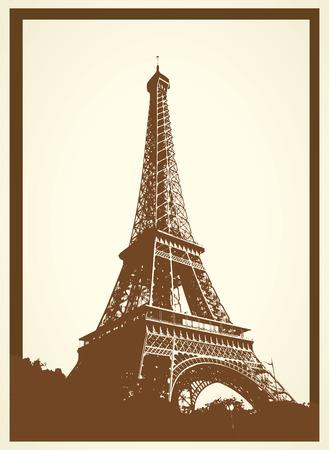 tout: tout eiffel ancient postcard