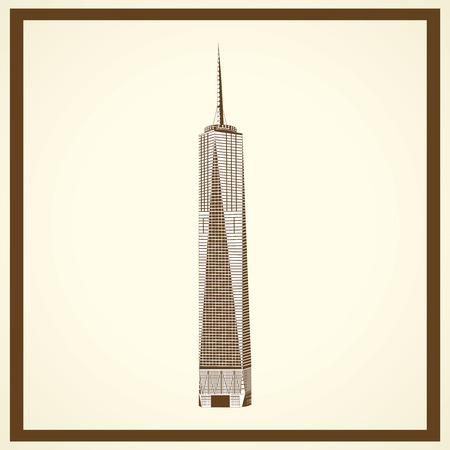 자유 타워 엽서