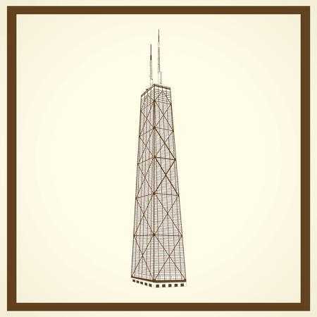 Sears torre postal Foto de archivo - 28459949