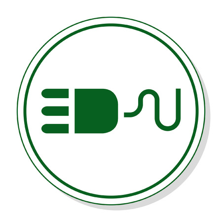 plug in: Web icon for communication - plug in Illustration