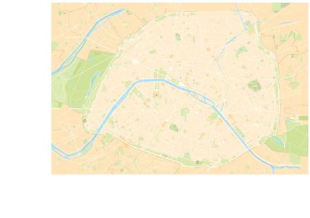 Paris map  イラスト・ベクター素材