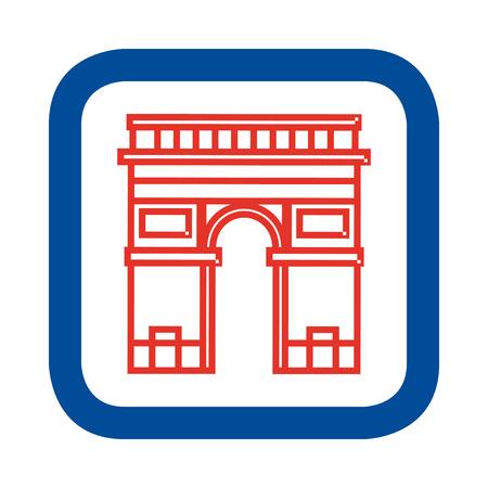 napoleon: Vector illustratie van de Arc de Triomphe