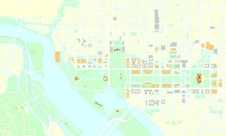 Washington DC map Vector