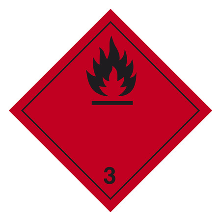 solids: Hazardous materials sign