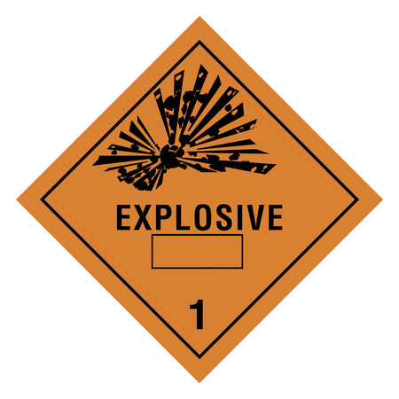 explosion hazard: Hazardous materials sign