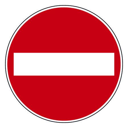 entry: Circle road sign