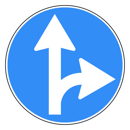 원형 도로 표지판 일러스트