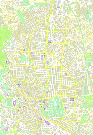 country road: Madrid color map