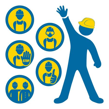 industrial worker: Men at work icons