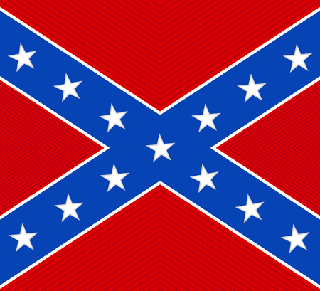 rebel flag: National flag of the Confederate States of America - illustration Illustration