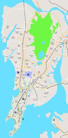 rural india: Mumbai map