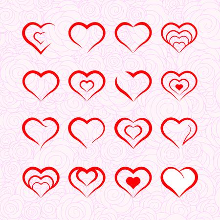 september: Heart illustrations September