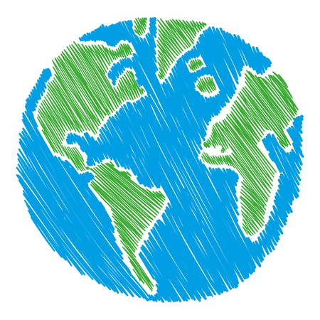 world globe map: Earth vector illustration