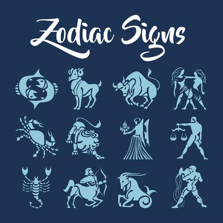 Signos del zodiaco del arte del vector Ilustración de vector