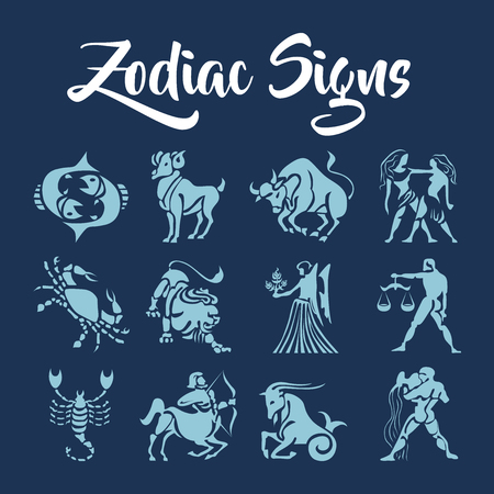 Zodiac Signs vector kunst Stock Illustratie