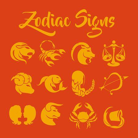 scorpion fish: Zodiac Signs art Illustration