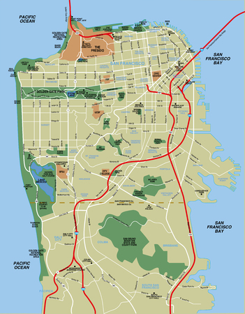 San Francisco kaart
