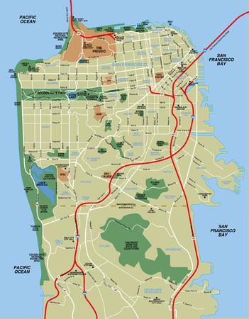 San Francisco Karte