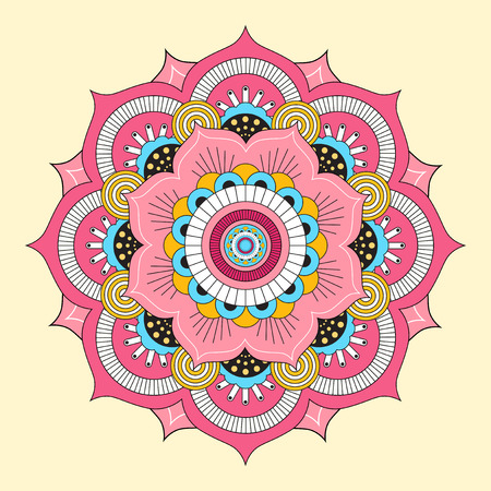 Colorful mandala. Decorative round ornaments. Illustration