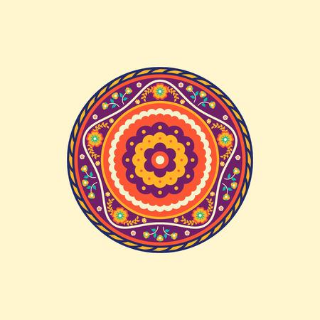 Colorful mandala. Decorative round ornaments. Illustration