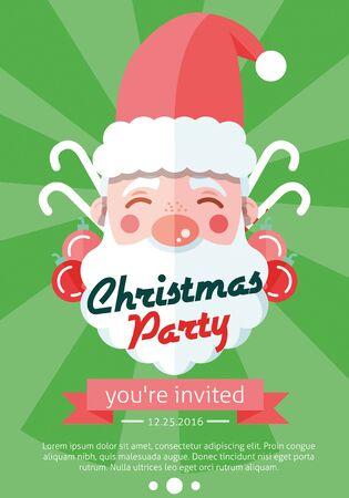 Santa Clauses vector set for christmas Illustration