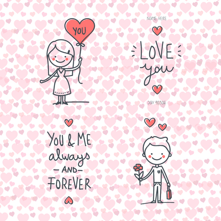 Valentines day - Romantic relationship lover illustration