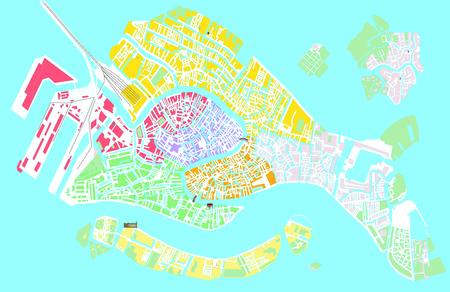 Venice colored vector map