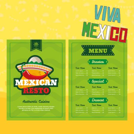 멕시코 요소 일러스트