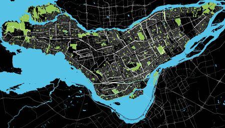 몬트리올 흑백지도