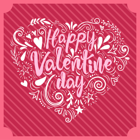 Valentines Day card design vector illustration Stock Illustratie