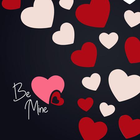 발렌타인 카드 디자인 벡터 일러스트 레이션