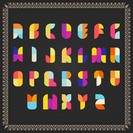 Color Vector Alphabet