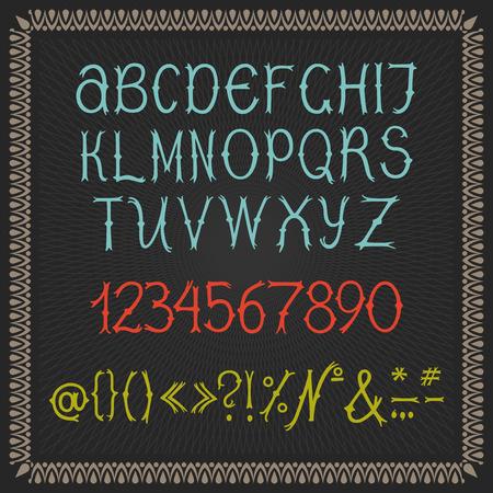 컬러 벡터 알파벳