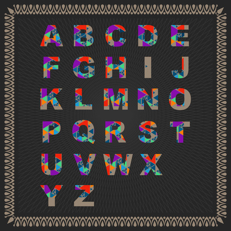 Color Vector Alphabet illustration.