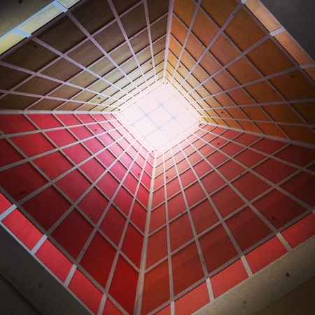 colorful: Sun ray reflection from the roof